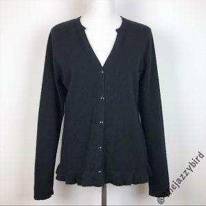 Pendleton Black Cashmere Cardigan Sweater